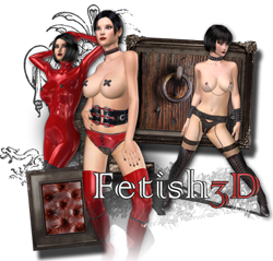 3D fetish latex porn and kinky BDSM bondage sex